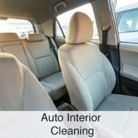 auto interior cleaning